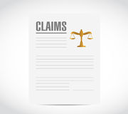 Claim contract document illustration Stock Images