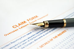Claim form Royalty Free Stock Photos