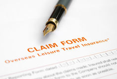 Claim form Stock Images
