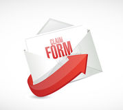 Claim form envelope illustration design Royalty Free Stock Photography