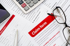 Claim form Royalty Free Stock Photography