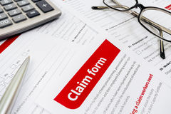 Claim form Stock Photo
