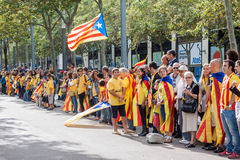 Claim for independence in Catalonia Stock Photography