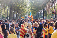 Claim for independence in Catalonia Royalty Free Stock Photography