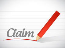 Claim message written Stock Photography