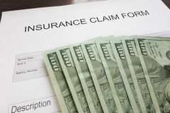Claim and money Royalty Free Stock Images
