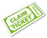 Claim ticket Stock Photography