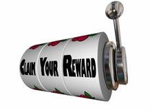 Claim Your Reward Prize Slot Machine Wheels Royalty Free Stock Photo