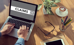 CLAIMS CONCEPT Royalty Free Stock Photo