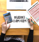 CLAIMS Health insurance form , Business Concept , Insured Claims Stock Image