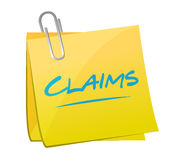 Claims memo post illustration design Stock Image