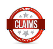 Claims seal illustration design Stock Photo