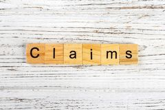 claims word made with wooden blocks concept royalty free stock image