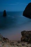 Clair de lune à la plage Photos stock