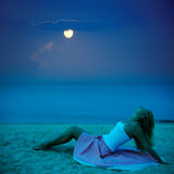 Clair de lune Photo stock