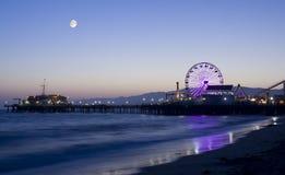 Clair de lune au-dessus de Los Angeles photographie stock libre de droits