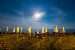 Clair de lune d'île de Bali Image stock