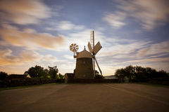 Clair de lune de moulin à vent Images libres de droits