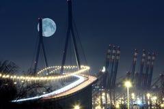 Clair de lune de passerelle Image libre de droits