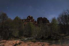 Clair de lune de roche de cathédrale Image stock