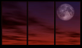 Clair de lune par l'hublot Photo stock