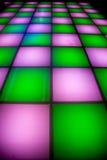 éclairage coloré d'étage de disco de danse Images libres de droits