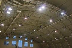 Éclairage d'entrepôt Photo stock
