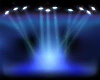 Éclairage de scène. Illustration de vecteur. Image libre de droits