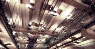 Éclairage intérieur de construction Photographie stock libre de droits