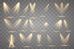 ?clairage lumineux avec des projecteurs illustration stock