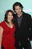 Claire Benoit и скала Eidelman на мировой премьере «он нет как раз то в вас». Театр Grauman китайский, Голливуд, CA. Стоковые Изображения RF