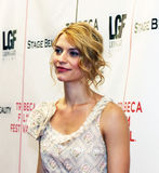 Claire Danes. Film, television, and stage actress Claire Danes arrives on the red carpet for the premiere of Stage Beauty, at the 3rd Annual Tribeca Film royalty free stock photos