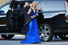 Claire Danes. Arrives for 2016 SAG Awards stock photo