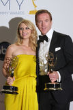 Claire Danes,Damian Lewis. LOS ANGELES - SEP 23: Claire Danes, Damian Lewis in the press room of the 2012 Emmy Awards at Nokia Theater on September 23, 2012 in royalty free stock image