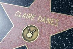 Claire Danes gwiazda na Hollywood spacerze sława obraz royalty free