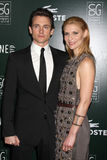 Claire Danes,Hugh Dancy. LOS ANGELES - FEB 22: Hugh Dancy, Claire Danes arrives at the 13th Annual Costume Designers Guild Awards at Beverly Hilton Hotel on stock photo