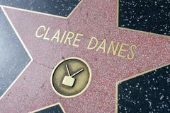 Claire Danes star on the Hollywood Walk of Fame royalty free stock image