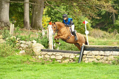 Claire Simpson riding Tina Dee Stock Photo