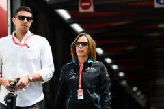 Claire Williams and her husband Mark Harris, Monaco 2019