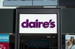 Claires firma dentro il centro urbano, Nottingham immagini stock