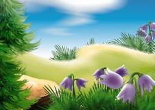 Clairière de forêt illustration libre de droits