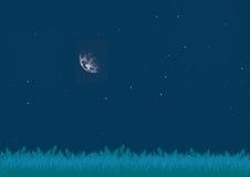 Clairière la nuit Photographie stock