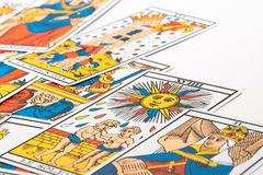 Clairvoyance tarot cards Royalty Free Stock Photography