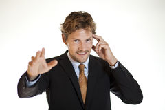 Clairvoyant businessman Stock Photos