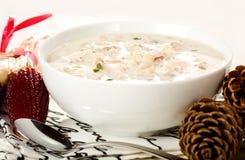 clam Англия густого супа новая Стоковая Фотография
