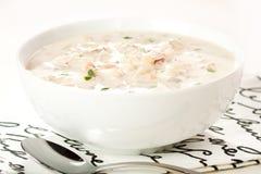 clam Англия густого супа новая Стоковое Фото