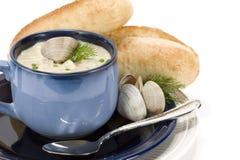 clam густого супа стоковые фотографии rf
