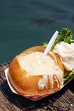 clam густого супа стоковая фотография rf