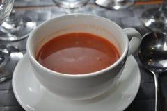 Borsch. French cuisine Russian borsch soup royalty free stock photos