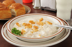 Clam chowder Royalty Free Stock Photo